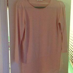 Asymmetrical pink blouse